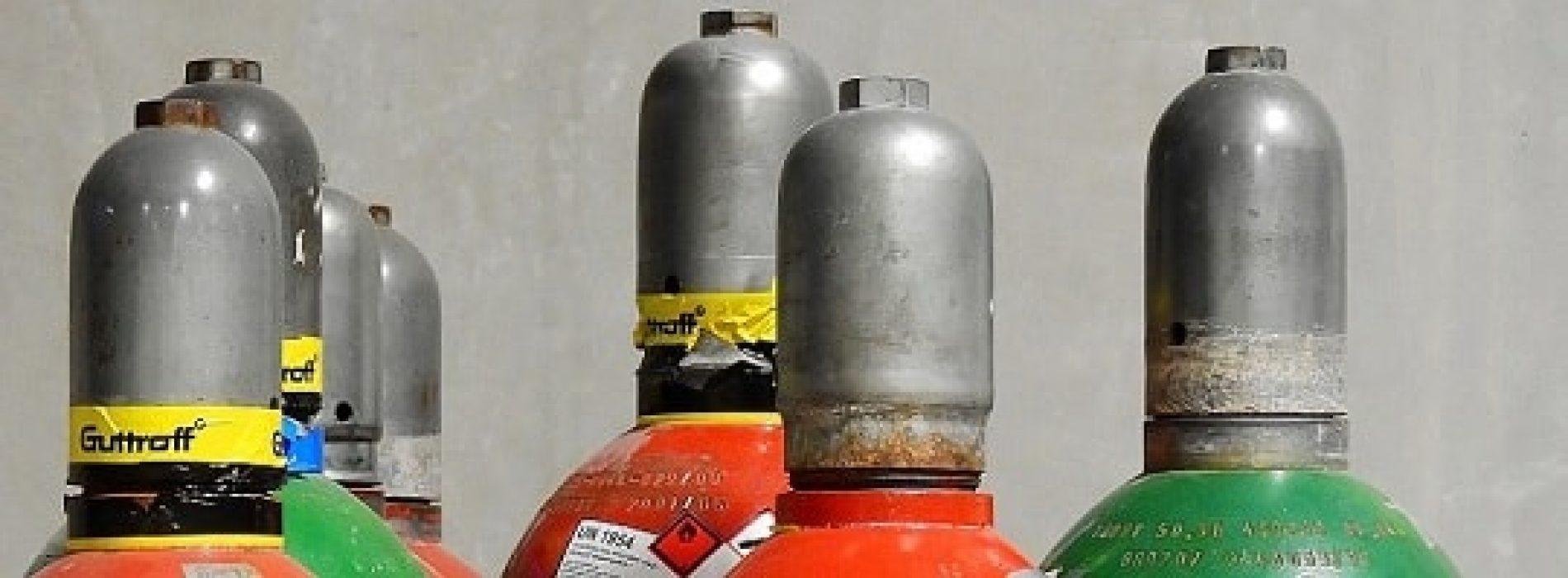 Slik oppbevarer du gassflasker